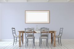 Dining-room interior.3d render. Royalty Free Stock Photos