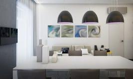 Interior dining room, kitchen Stock Photos