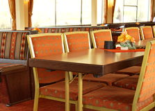 Interior of dining room in a river cruise ship Royalty Free Stock Image