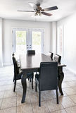Interior with dining table Royalty Free Stock Image