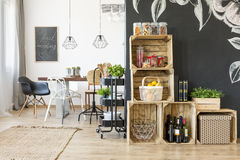 Interior with dining table Stock Photography