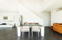 Interior, dining table view Royalty Free Stock Photography