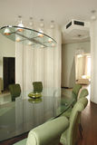 Interior of dinning room. In green Stock Photos
