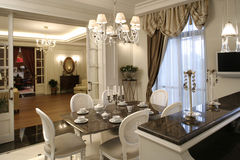 Interior of a dinning room Stock Photos