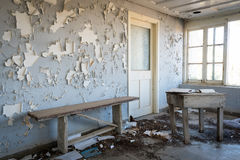 Interior of a dirty an abandoned room Royalty Free Stock Photography