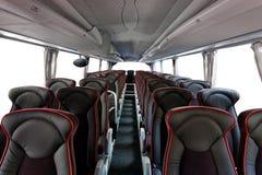 Interior do ônibus imagem de stock royalty free