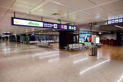 Interior do aeroporto de Fiumicino Foto de Stock Royalty Free