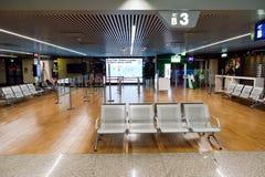 Interior do aeroporto de Fiumicino Imagens de Stock