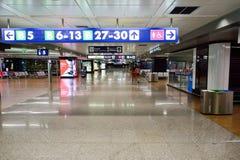 Interior do aeroporto de Fiumicino Imagens de Stock Royalty Free
