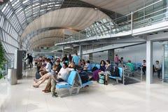 Interior do aeroporto de Suvarnabhumi Foto de Stock Royalty Free