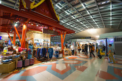 Interior do aeroporto de Suvarnabhumi Imagem de Stock