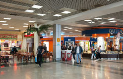 Interior do aeroporto internacional de Hurghada Foto de Stock