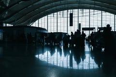 Interior do aeroporto internacional de Shanghai pudong Imagens de Stock