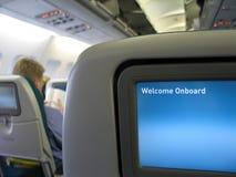 Interior do avião Fotos de Stock Royalty Free