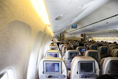 Interior do avião Foto de Stock Royalty Free