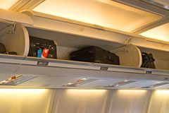 Interior do avião Foto de Stock