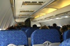 Interior do avião Imagens de Stock Royalty Free