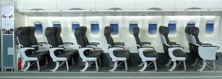 Interior do avião Foto de Stock Royalty Free