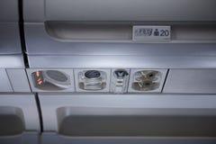 Interior do avião Fotografia de Stock