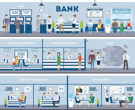 Interior do banco e do escritório ilustração do vetor