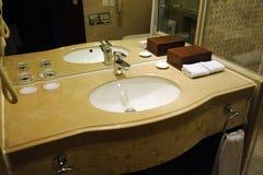 Interior do banheiro do hotel Imagens de Stock