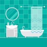 Interior do banheiro furniture ilustração stock