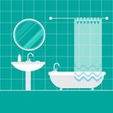 Interior do banheiro furniture Interior Home ilustração stock