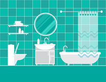 Interior do banheiro furniture Interior Home ilustração royalty free