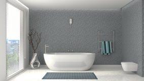 Interior do banheiro ilustração 3D ilustração royalty free