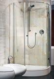 Interior do banheiro luxuoso novo com chuveiro Imagens de Stock