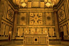 Interior do Baptistry, Florença, Italy fotos de stock royalty free