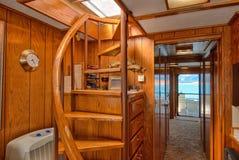 Interior do barco de casa Foto de Stock Royalty Free