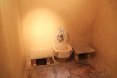 Interior do bathhouse turco do otomano na ilha de Kos em Grécia Imagens de Stock