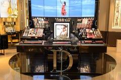 Interior do boutique dos cosméticos de Dior Foto de Stock Royalty Free
