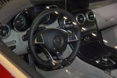 Interior do Cabriolet da classe de Mercedes-Benz C Fotos de Stock Royalty Free