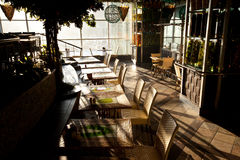 Interior do café Foto de Stock Royalty Free
