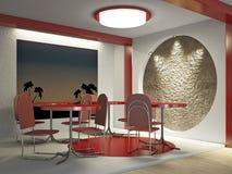 Interior do café ilustração royalty free