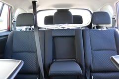 Interior do carro Assentos traseiros de um interior do carro Auto interior com bancos traseiros Fotografia de Stock