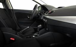 Interior do carro com opinião lateral da caixa de engrenagens automática Fotografia de Stock Royalty Free