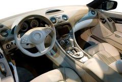 Interior do carro de esportes Fotografia de Stock