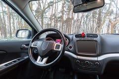 Interior do carro de SUV foto de stock