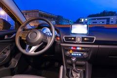 Interior do carro desportivo imagem de stock