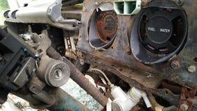 Interior do carro quebrado forgotton Fotos de Stock Royalty Free