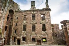Interior do castelo de Caerlaverock, Dumfries, Escócia Imagem de Stock