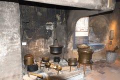 Interior do castelo de Spiez, Suíça Fotografia de Stock Royalty Free
