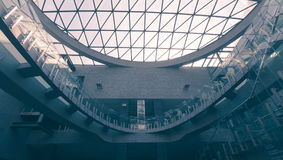 Interior do castelo imperial D de Poznan imagem de stock