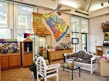 Interior do centro do visitante dos EUA do estado de South Carolina fotografia de stock royalty free