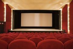 Interior do cinema foto de stock