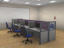 Interior do compartimento moderno do escritório Ilustração Stock