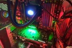 Interior do computador Fotografia de Stock